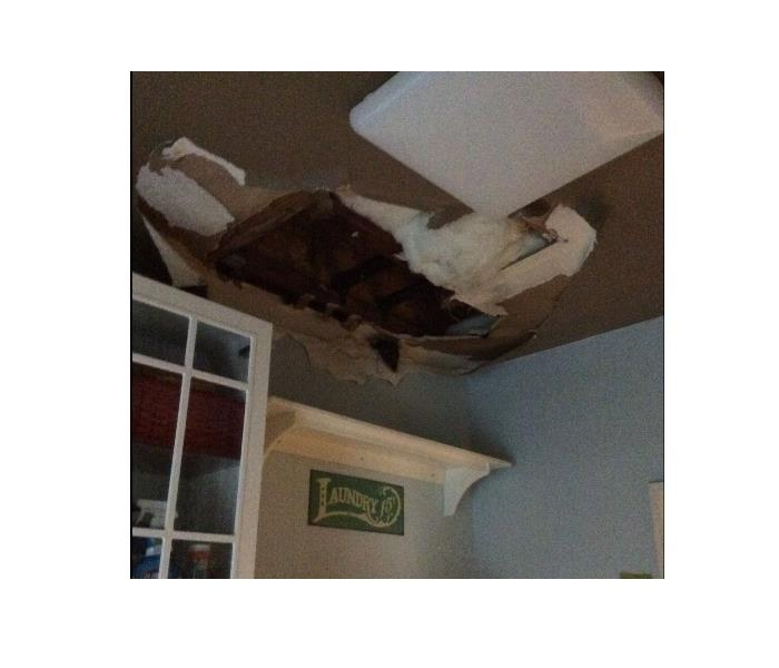 Ceiling Collapsed Due to Storm