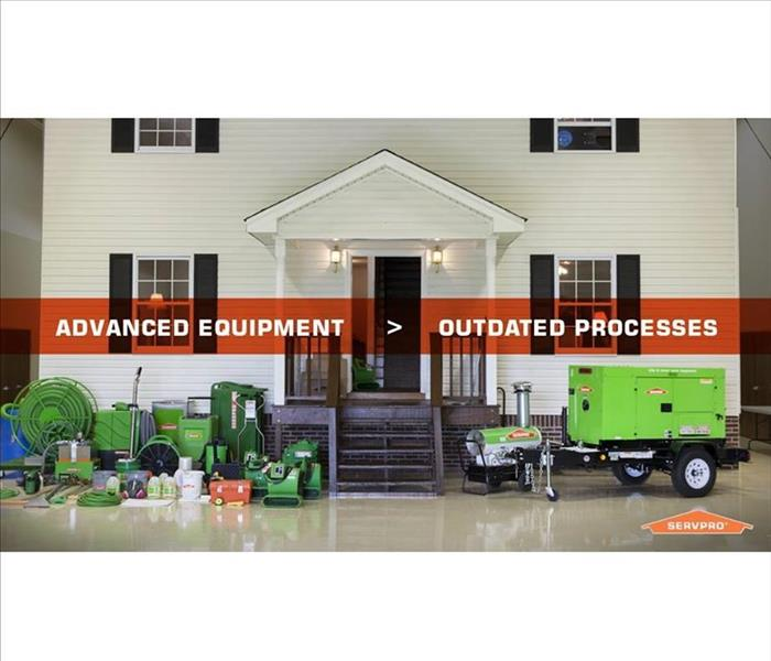 General SERVPRO Has The Equipment To Get The Job Done